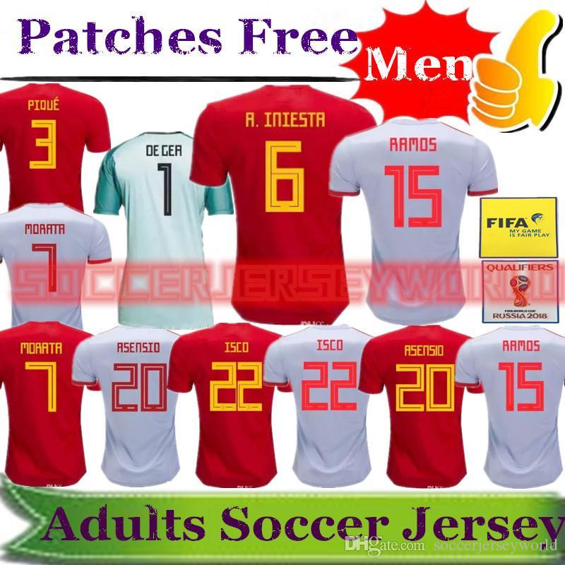 d5bbbfe86b3 2018 World Cup Spain Soccer Jerseys 18 19 Camisetas De Futbol ESPANA ...