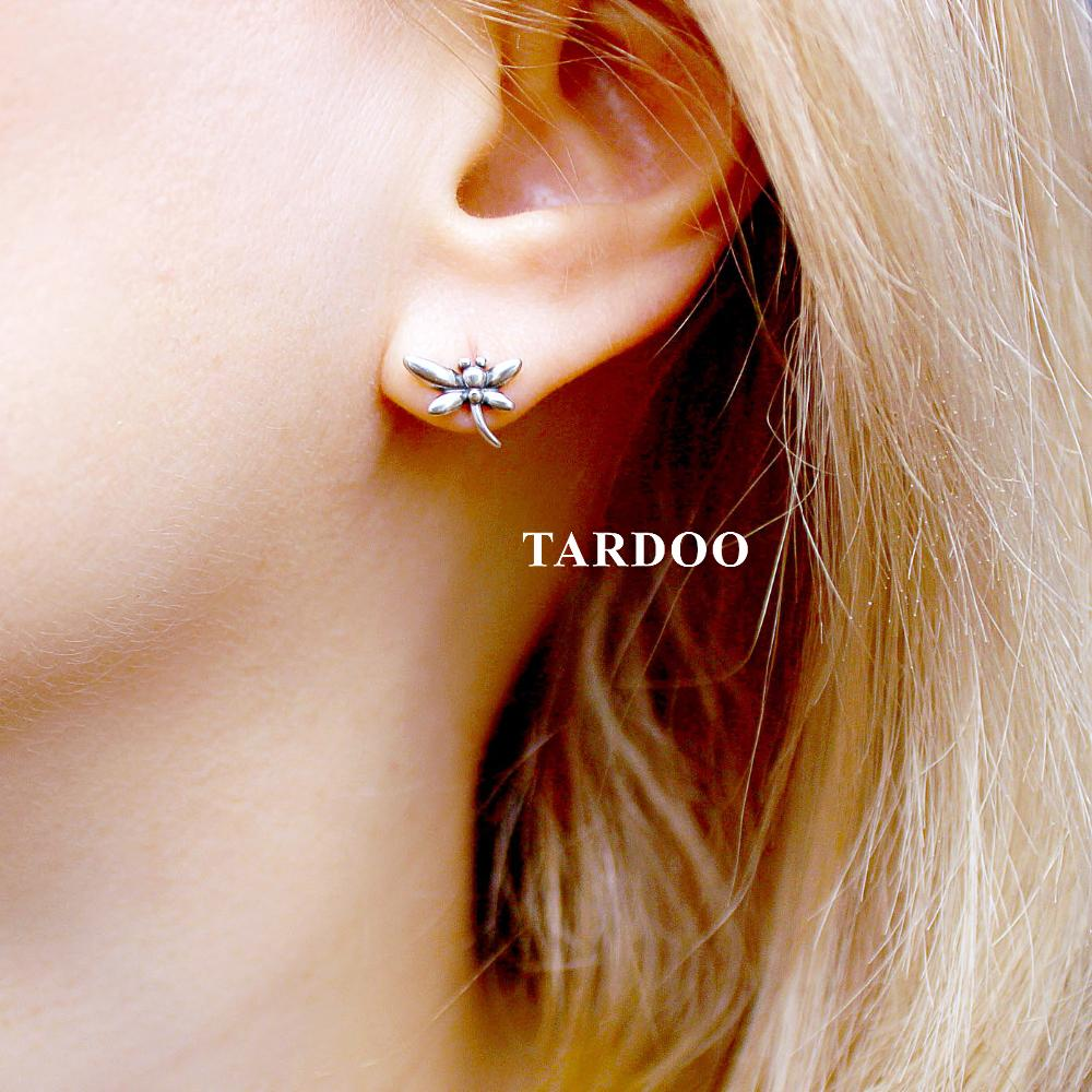 61c00fb5a 2019 Tardoo Genuine 925 Sterling Silver Stud Earrings For Women Dragonfly  Insect Modelling Shimmering Earrings Brand Fine Jewelry From Cupwater, ...