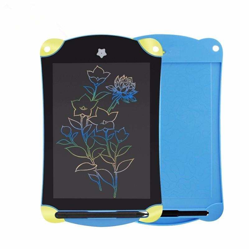 Мультфильм 8.5 дюймов ЖК-планшет цифровой рисунок планшет красочные рукописные колодки портативный графический синий электронная доска для детей