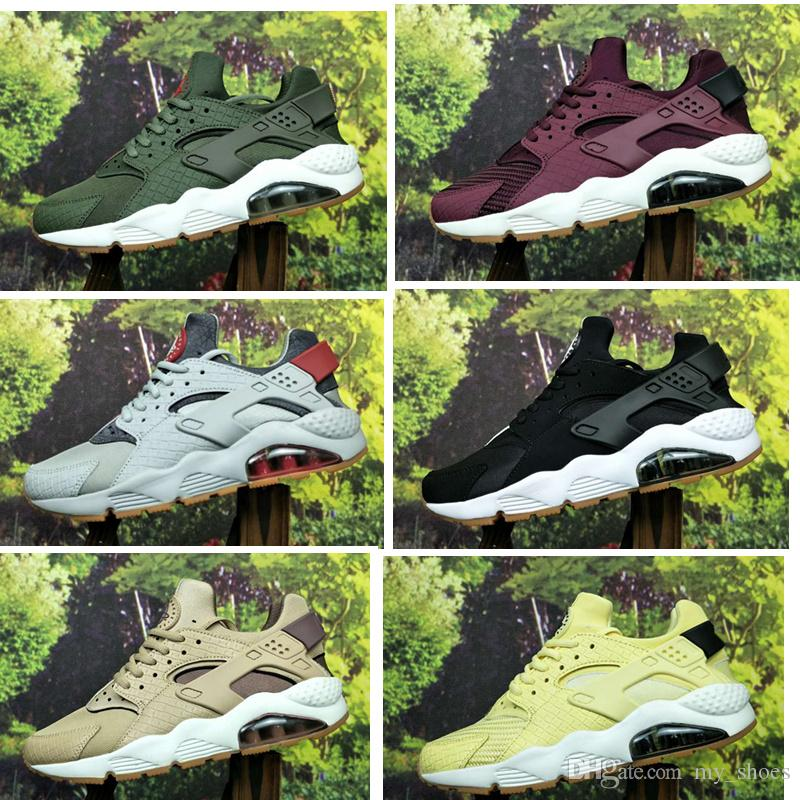 more photos 852ea a6bdb 2019 2018 New Color Huarache ID Custom Running Shoes For Men Navy Blue Tan Air  Huaraches Sneakers Designer Huraches Brand Sport Hurache Trainers From ...