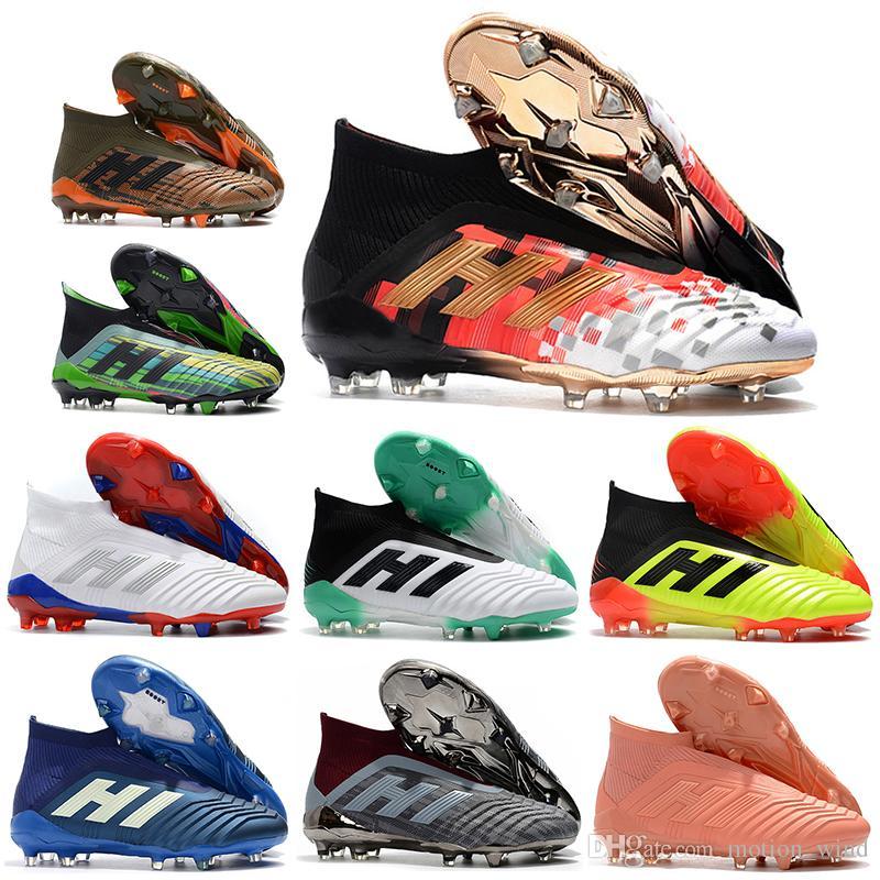 2f6556eb8d5b 2018 Mens High Ankle Football Boots X PogbaPredator Telstar 18+ FG ...
