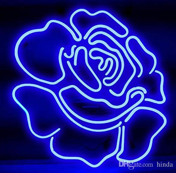 2019 24 20 Inches Blue Rose Diy Glass Neon Sign Flex Rope Neon Light