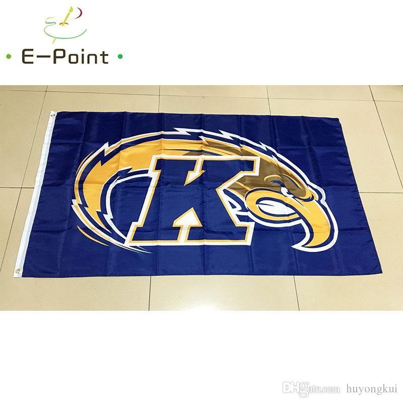 NCAA Kent State Goldene Blitze polyester Flagge 3ft * 5ft 150cm * 90cm Flagge Banner dekoration fliegen hausgarten geschenke im freien