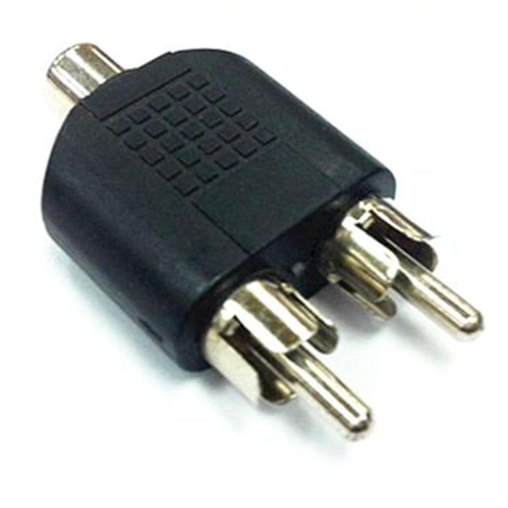 3 X Rca Phono Y Splitter Adaptor Connector 2 X Male To 1 X Female ...