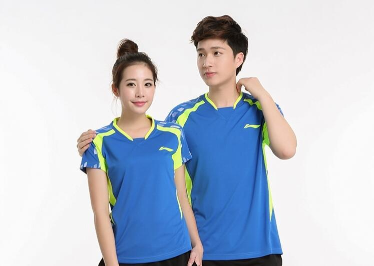 Li Ning authentic badminton t-shirt men and women table tennis clothing jerseys sportswear quick-drying short-sleeved tennis train clothes