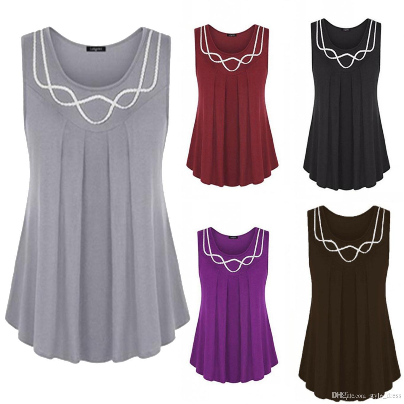 1a37463c Women Tank Tops Summer Casual O Neck Loose Plus Size Sleeveless T Shirt  Blouse Tees Cool T Shirts From Style_dress, $13.07| DHgate.Com