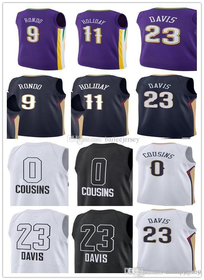 Cheap Men s City Edition Purple  23 Anthony Davis Jersey  0 DeMarcus  Cousins 9 Rajon Rondo 11 Jrue Holiday All Star Basketball Jerseys d3b943185