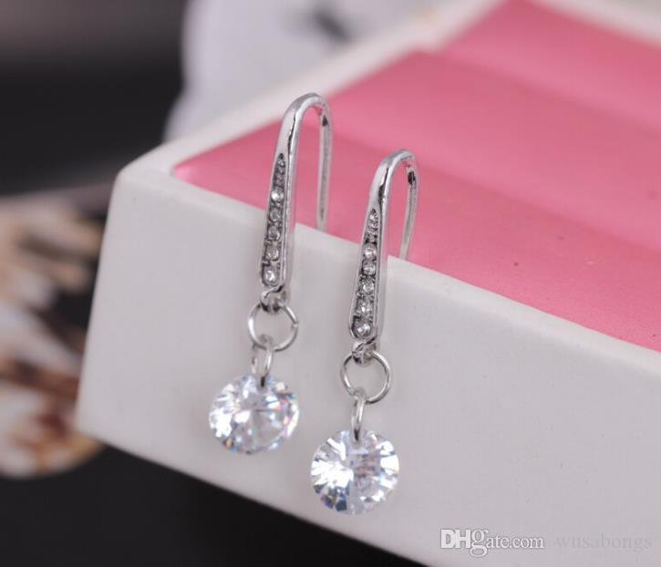 Korean exquisite Zirkon Diamant Ohrringe