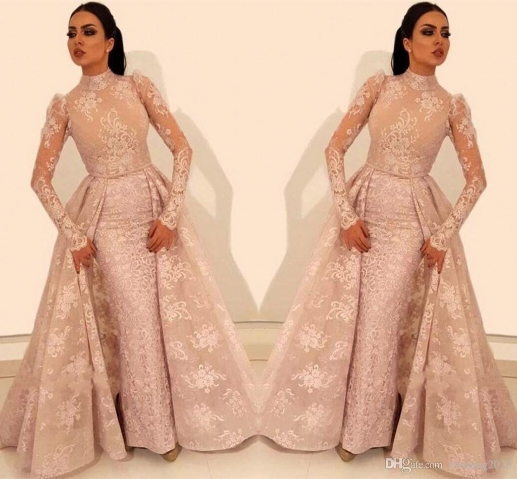 a3175705127 Glamorous Long Sleeve Arabic Prom Dresses 2019 Glamorous Lace Evening Gowns  Appliques Middle East Evening Gowns Sexy Dresses Black Dress From  Evening2020