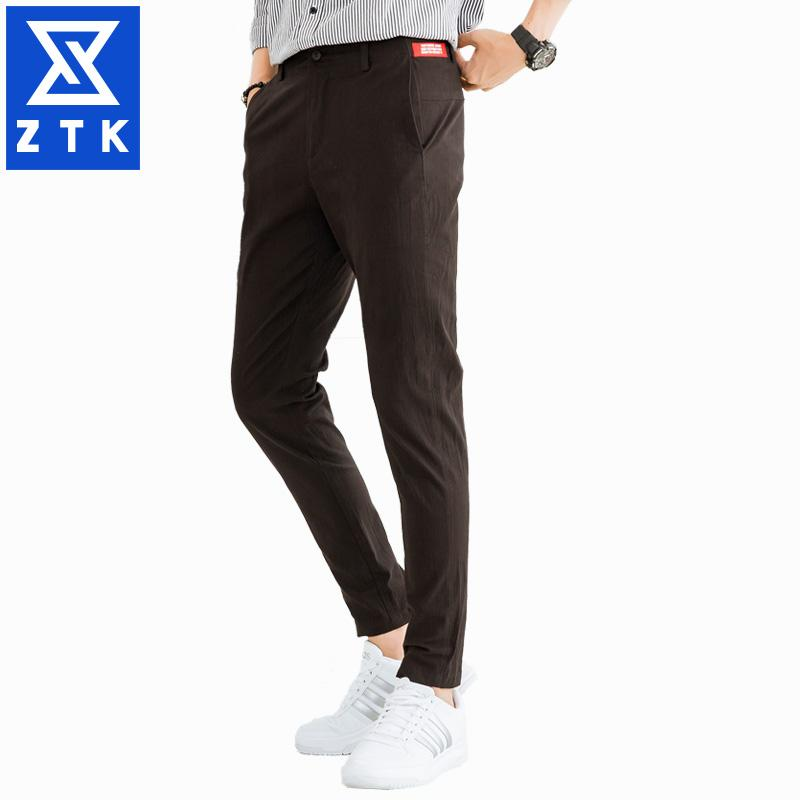 9eeff3060 2019 Summer Casual Pants Male Korean Version Of Trend Men Nine Point  Trousers Slim Thin Style Trousers Small Feet Nine Point From Paluo, $29.15    DHgate.Com
