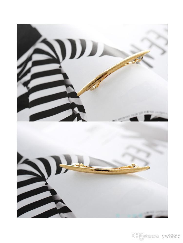 Cool simple cabeza joyería Pin de pelo tijeras de oro Clip para el pelo Tiara Barrettes accesorios al por mayor