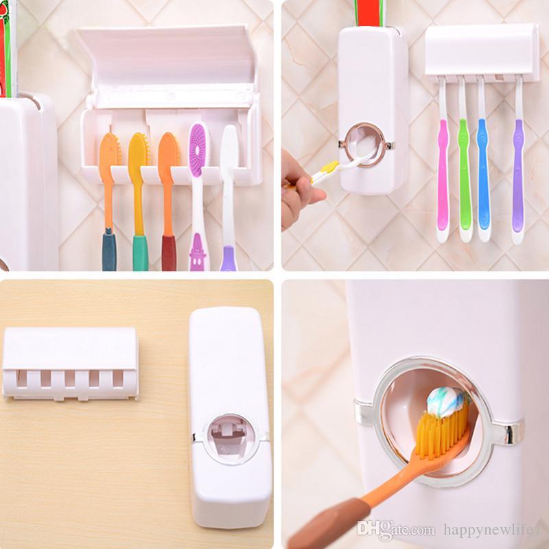 حار بيع التلقائي موزع معجون الأسنان الأسرة حامل مجموعة عالية الجودة مجموعات الحمام