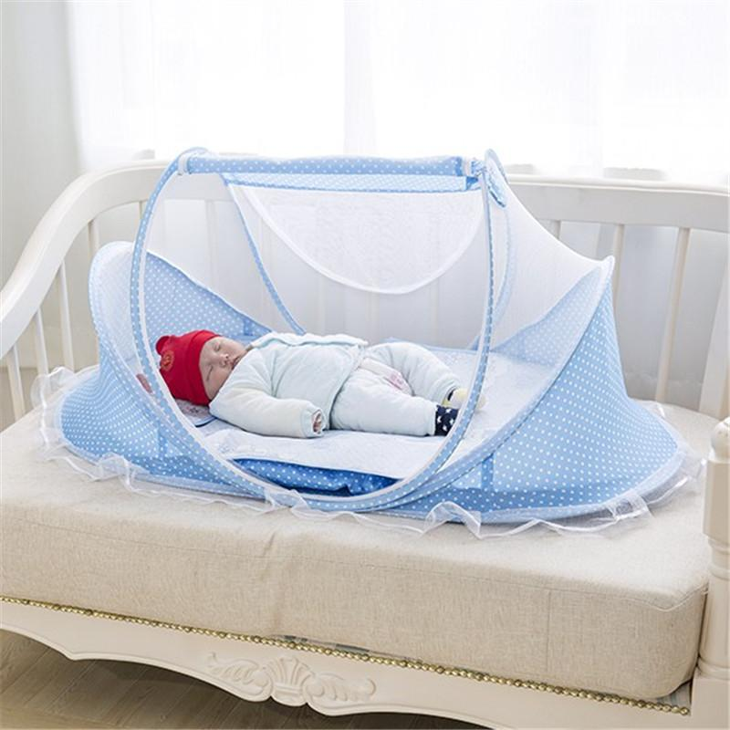 Playpens & Play Yards Baby Bed Mosquito Crib Portable Curtain Cot For Infant Play Mat Kids Protect Net