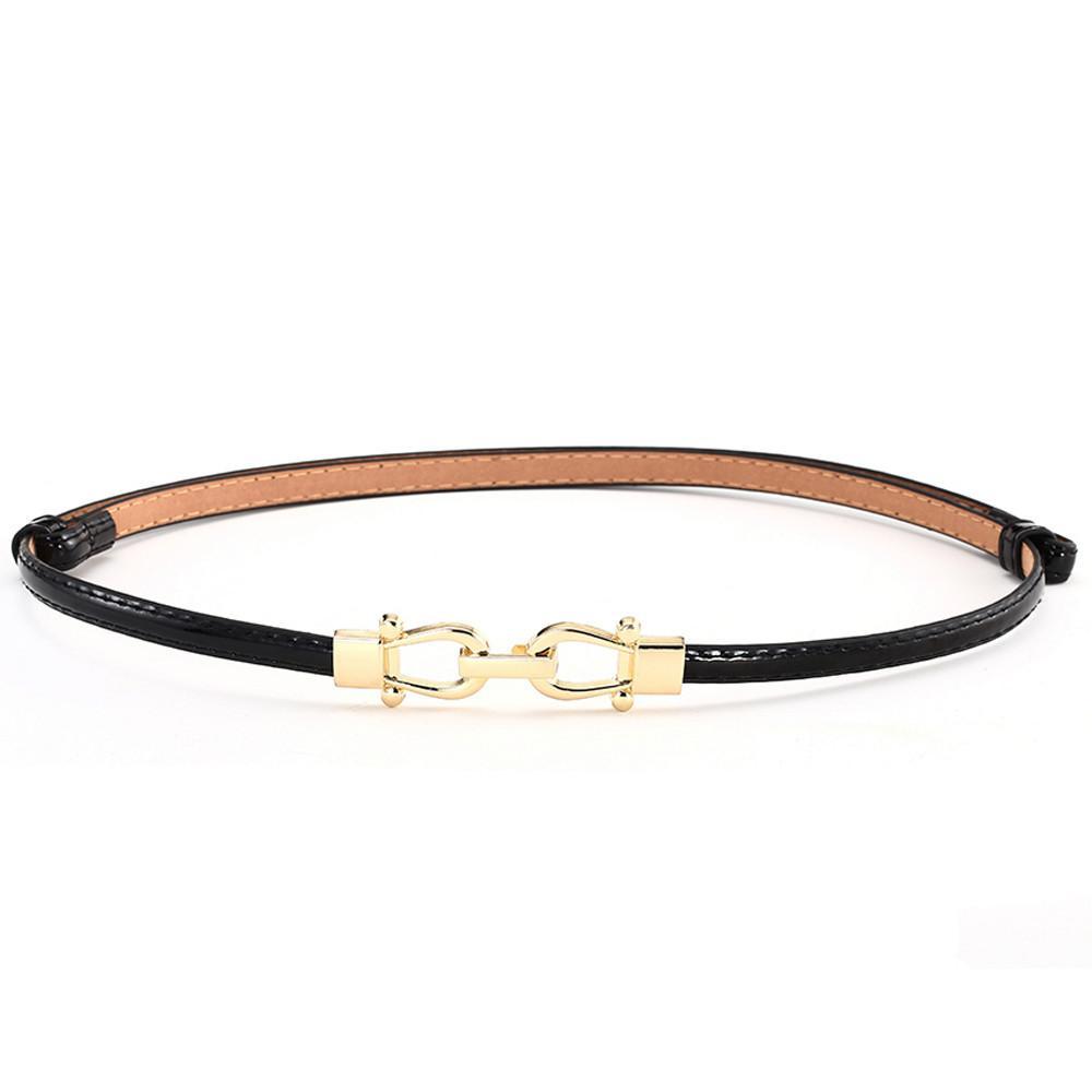 Compre Cinturones De Cintura Delgada De Mujer De Cuero Flaco Para Vestidos  De Hasta 37 Con Hebilla De Enclavamiento 2 Pack Dropshipping A  33.97 Del  ... 09f220f02db8