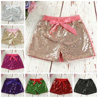 157822da854f4 Acheter Mode 2018 Enfants Filles Vêtements Paillettes Shorts Bébé Satin  Bowknot Pantalons Courts Enfants Boutique Vêtements Bambin Coton Shorts  Pantalons ...