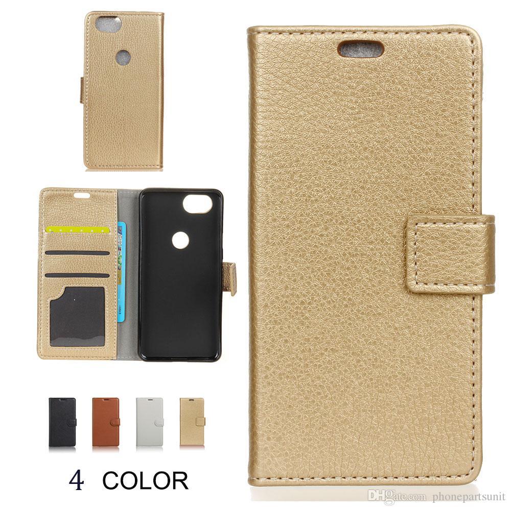 huge selection of e364b 89ee0 Leather Phone Case For HTC Google Pixel 3 Pixel 3XL Pixel 2 Case Lichee  Pattern Wallet Flip Cover Bag