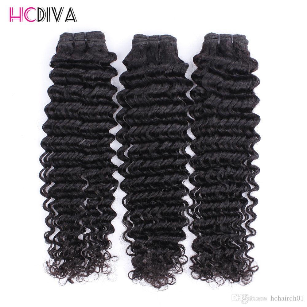 8A 처리되지 않은 브라질 버진 사람의 머리카락 확장 3 사진 밍크 깊은 파도 레이스 정면 100 % 처리되지 않은 버진 헤어 도매 가격