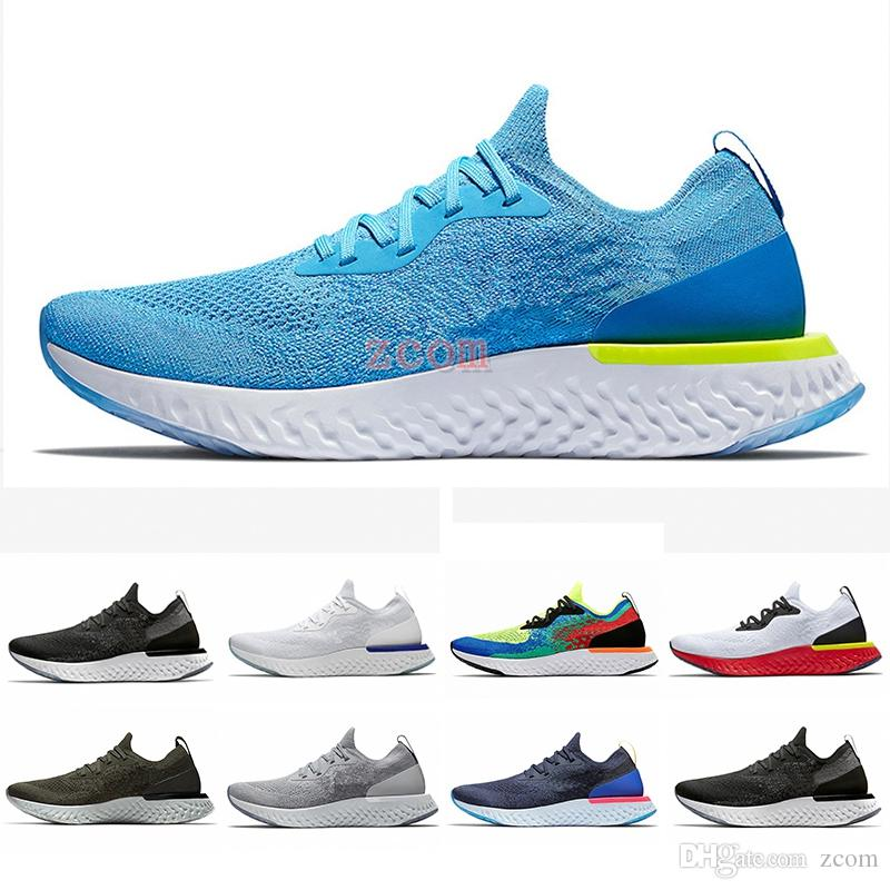 808e207e8ad8 2018 Belgium Epic React Instant Go Fly Men Women Running Shoes Blue Glow  Black White Causal Mesh Breathable Sport Athletic Trainer Sneakers Girls  Running ...
