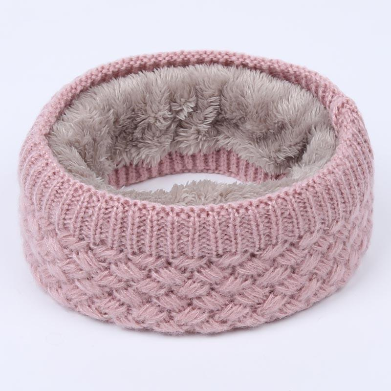Solid Chunky Cable Knit Wool Snood Infinity Neck Warmer Cowl Collar