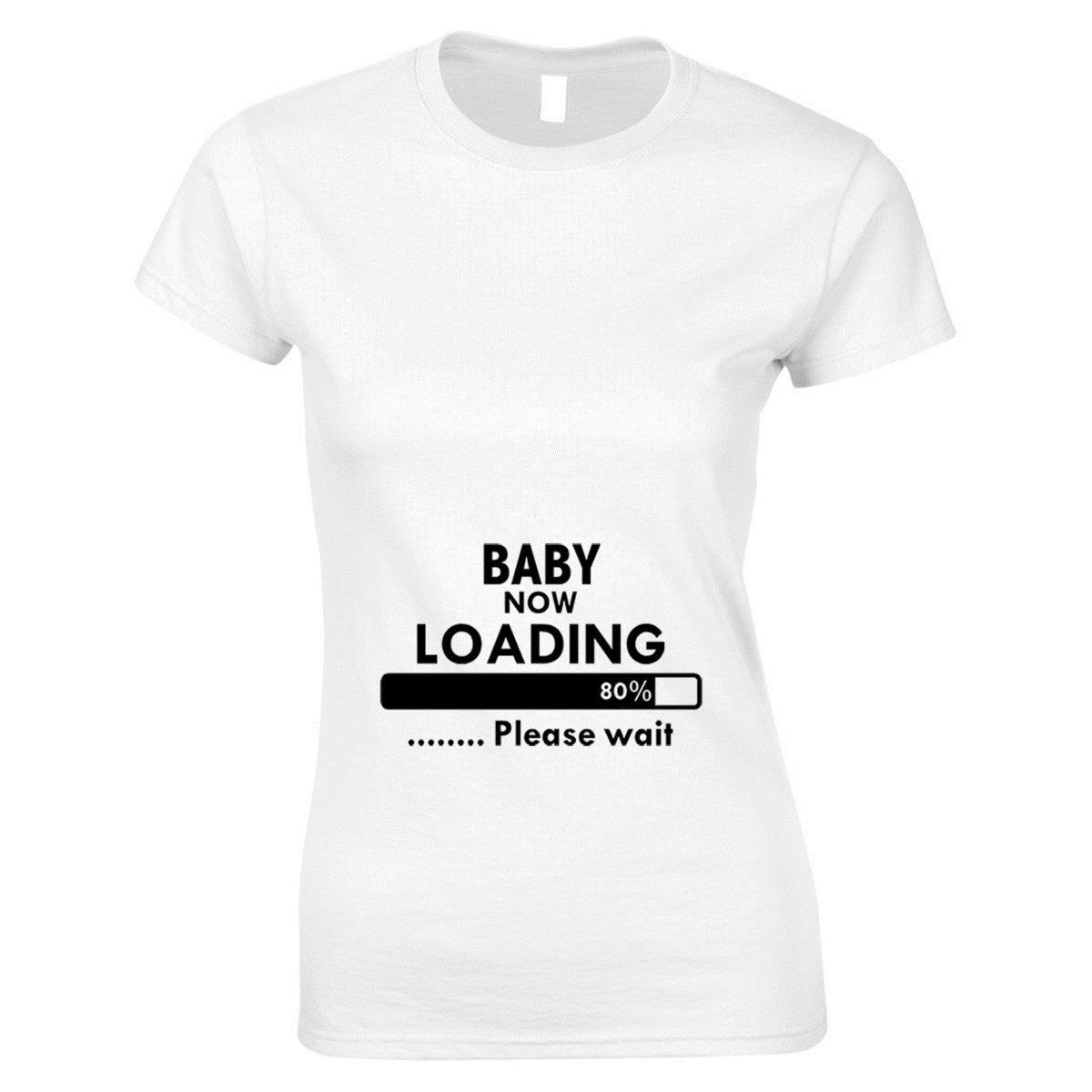 2cbceafb9fec0 Baby Now Loading Funny Maternity Pregnancy Top Womans T Shirt Baby Shower  Gift Summer Casual Man Good Quality T Shirt And Shirt Shop T Shirts Online  From ...