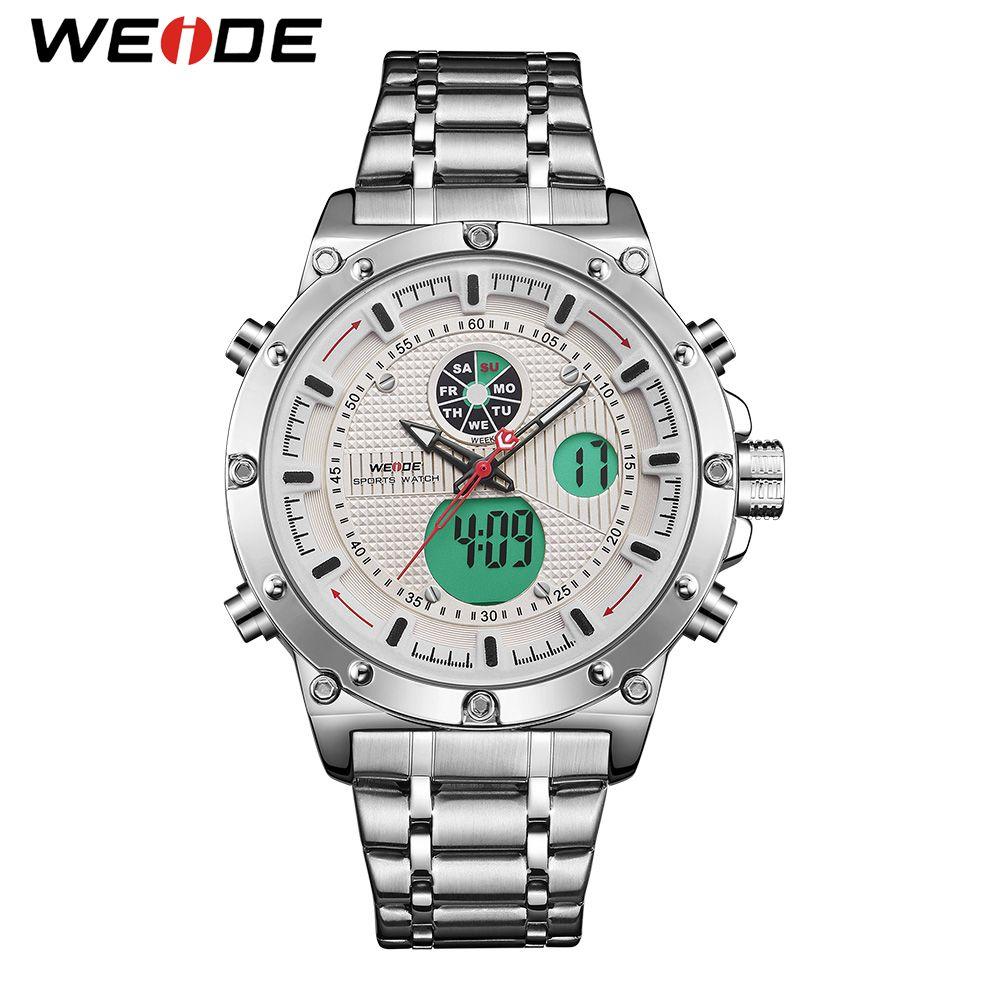 e8a7c88ef9c WEIDE Sports Luxury Brand Army Stylish Dual Quartz Analog Digital Stainless  Steel Strap Wrist Watch Relogio Masculino Buy Watch Online Buy Watch From  ...