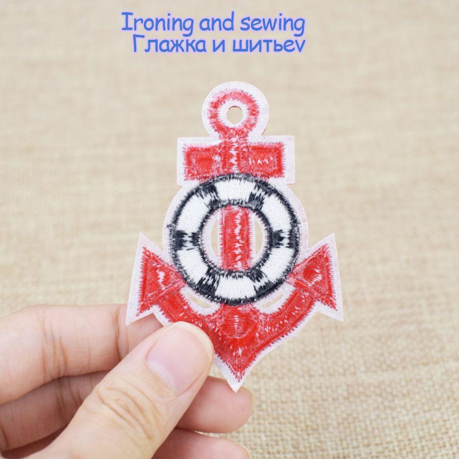 10шт Красный Якорь патчи для одежды сумки железа на передачу аппликация патч для куртки DIY шить на вышивка значок