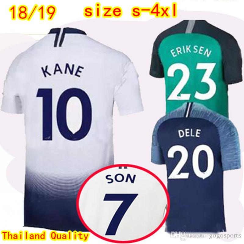 12d3f3ec9 2019 Thai Quality KANE DELE Home Soccer Jerseys 2018 2019 LAMELA SON  VERTONGHEN Away Football Shirt ERIKSEN Spurs 3rd Football Uniform Plus Size  From ...