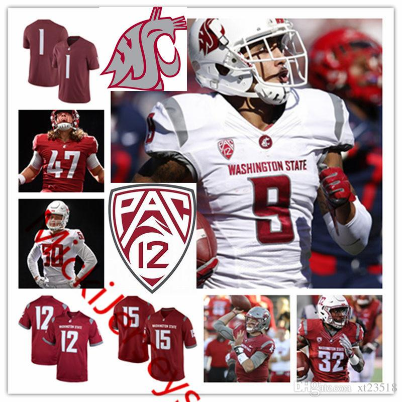 686e8773d 2019 Mens Custom Washington State Cougars Luke Falk Football Jerseys Gerard  Wicks Kirkland Parker Dezmon Patmon Tyler Hilinski WSU Cougars Jersey From  ...