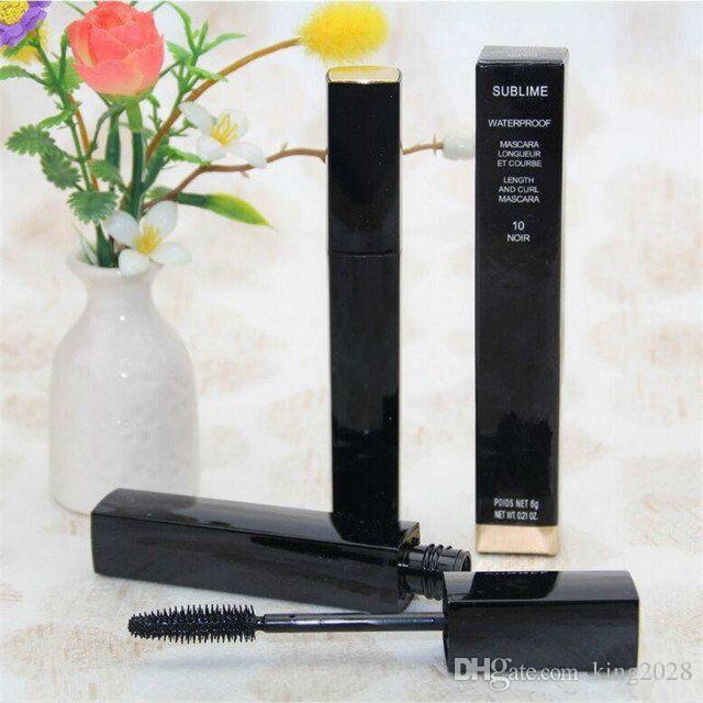 العلامة التجارية الساخنة ، BLACK الماسكارا SUBLIME الجمال ماء ED ماسكارا ماكياج 6G طول وحليقة الماسكارا طويلة الأمد.