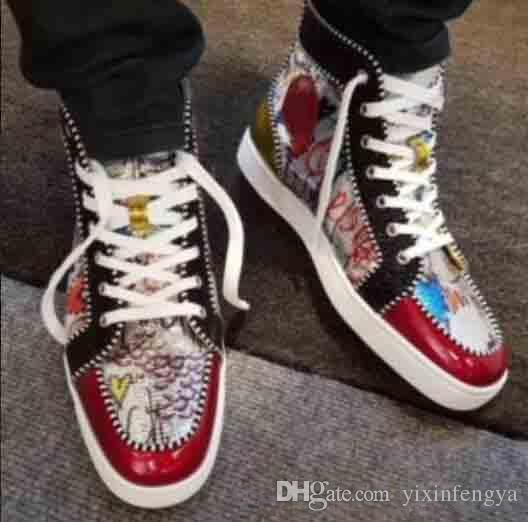 c507e82b45da New High Quality Men Sneakers For Red Bottom Shoes France Men Flat ...