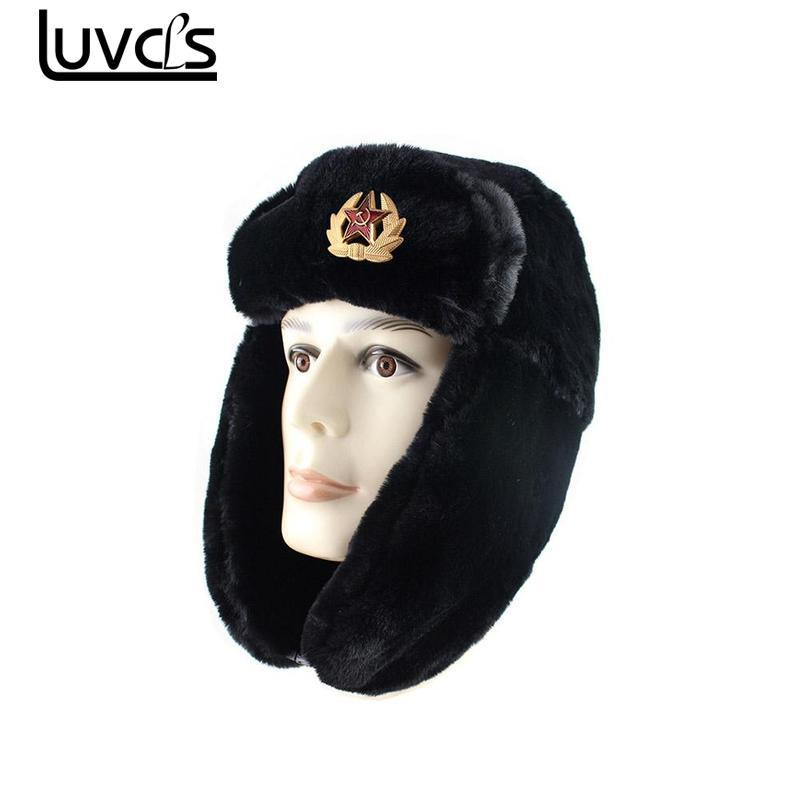 LUVCLS Winter Warm Earflap Bomber Hats Caps Scarf Men Women Russian Trapper  Thermal Hat Trooper Earflap Snow Ski Cap Winter Hats UK 2019 From Peachguo fa8fd176de17
