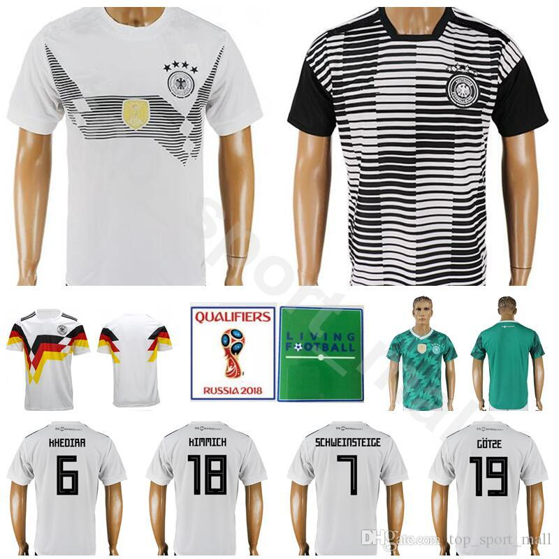 15e39c6d4f9 Men World Cup 2018 Germany Jersey Soccer 6 KHEDIRA 18 KIMMICH 7 ...