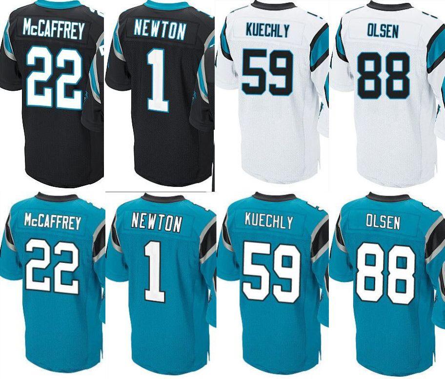 c21a01734 ... carolina panthers player name number t shirt 3be7d f79f4; uk top sale 22  christian mccaffrey jersey panther 1 cam newton 59 luke kuechly 58 davis