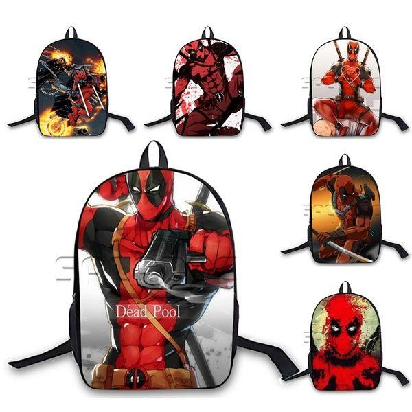Fashion Laptop Backpack Marvel Superhero Deadpool Backpack Student Deadpool  Wade Wilson School Bag Women Men Casual Travel Backpack Swiss Backpack  Laptop ... af7ae1109bad0