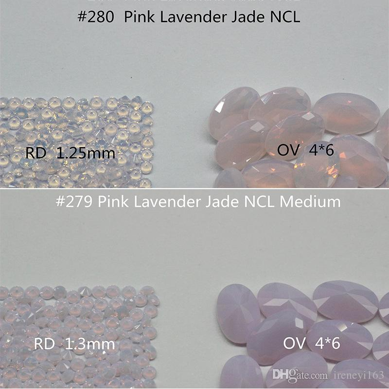 Pink Color 1.75mm Round Nanogem Crystal Facet Cut Top Quality Thermostable Synthetic Loose Gemstone For Jewellery Color A