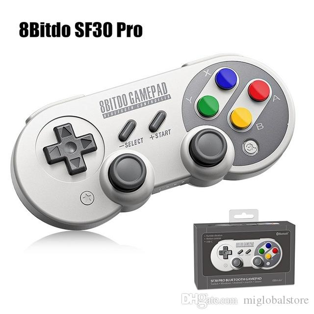 8Bitdo SF30Pro Gamepad Retro Wireless Joystick Bluetooth Controller for NS  Gamepad MacOS Android Raspberry Pi and PC Free Shipping