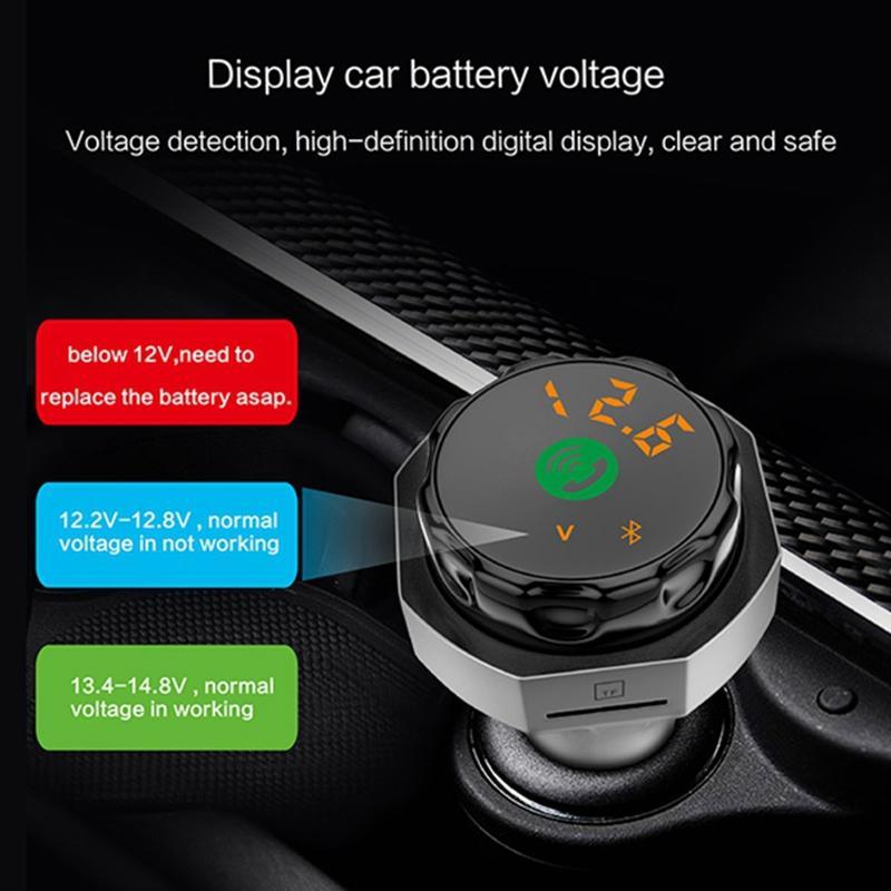 AP06 Car Charger MP3 Player V4.2 Bluetooth Handsfree Dual USB Support TF U-disk FM Transmitter External USB Flash Drive