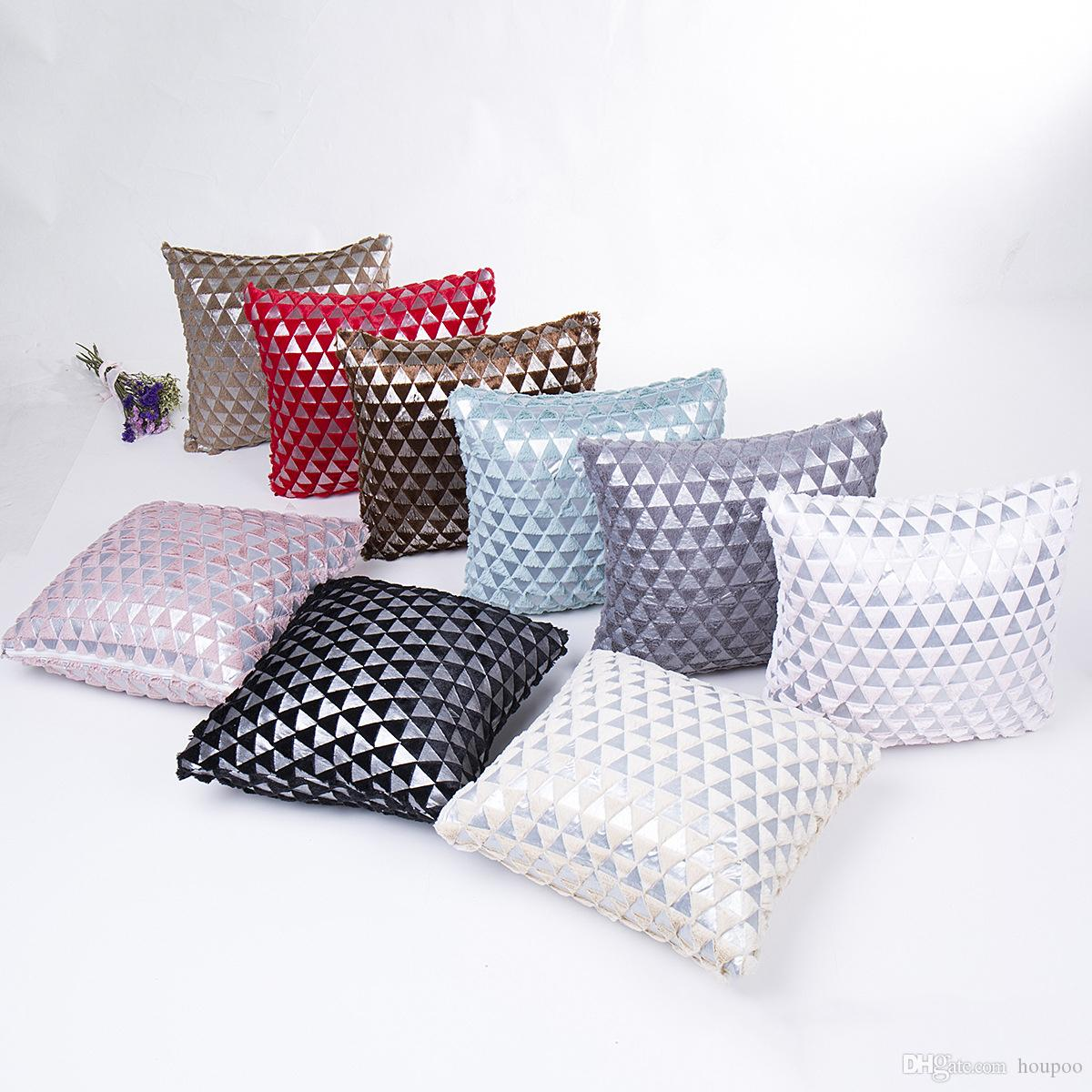 silver triangle plated 43 43cm household cushion covers bedroom set rh dhgate com