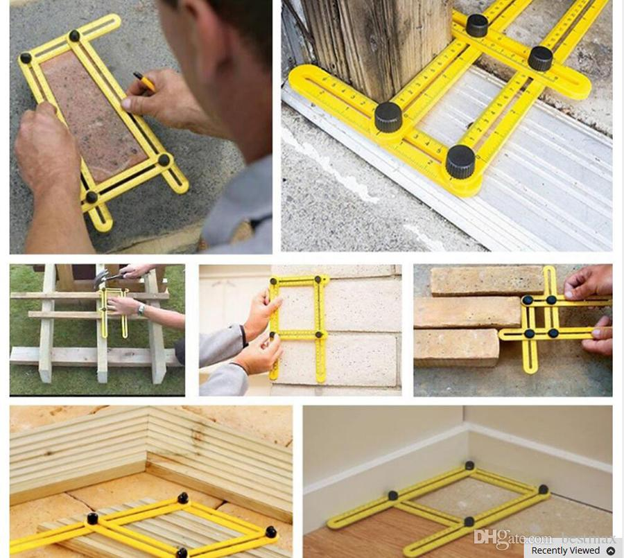 tape measure woodworking tool for professional ruler set Four-sided Measuring Tool Angle Finder Protractor Multi-Angle Ruler Layout