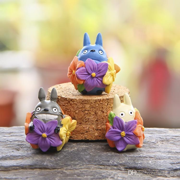 3 Style Japanese Anime Miyazaki My Neighbor Totoro Series With Action Figures Toys DIY Micro Landscape For Kids Toys Decorations