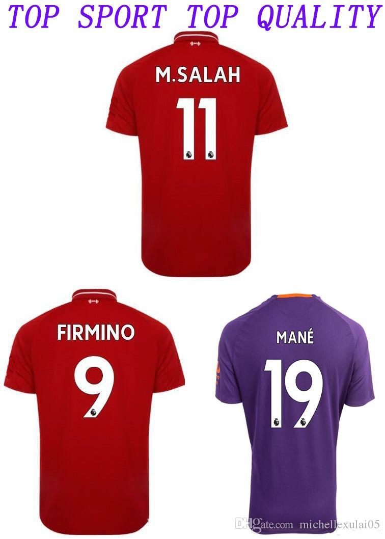 4044dd8fec4 ... liv soccer jersey 18 19 m. salah keita shaqiri firmino football shirts  gerrard mane football