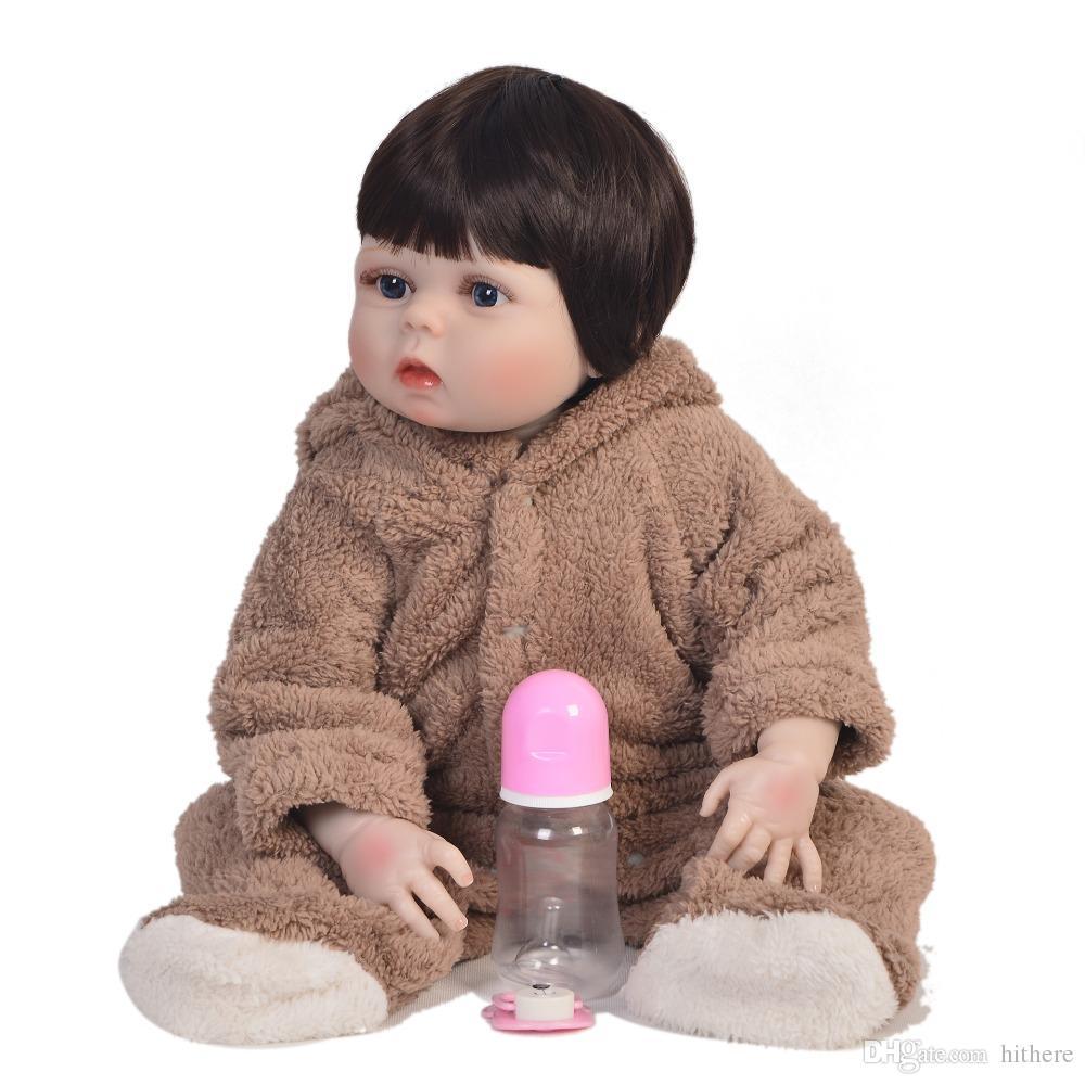 Großhandel Echte 23 Zoll Volle Silikon Baby Puppe 100% Handgemachte ...