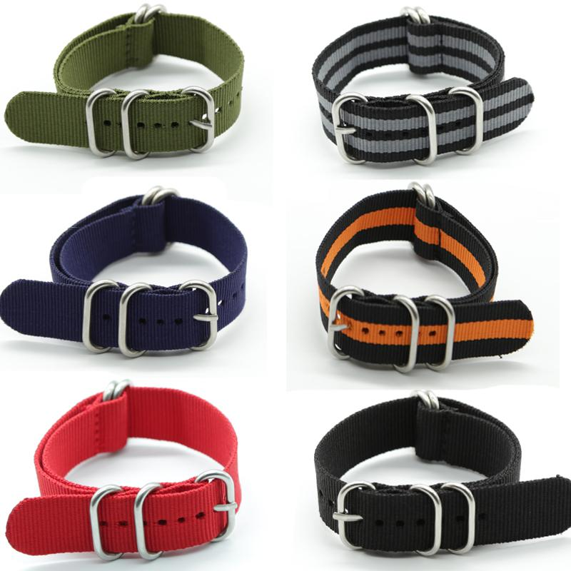 Special Offer Wholesale 20mm 22mm 24mm Nylon Nato Watch Band Solid Color Zulu Nylon Watch Band Straps