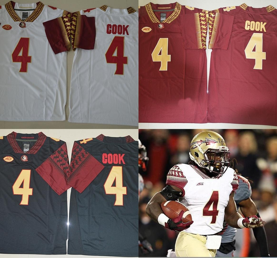 new styles ca424 1439f Dalvin Cook Jersey,#4 Florida State Seminoles FSU Embroidery College  Jerseys,Top Quality Cook red black white Jerseys,free shipping