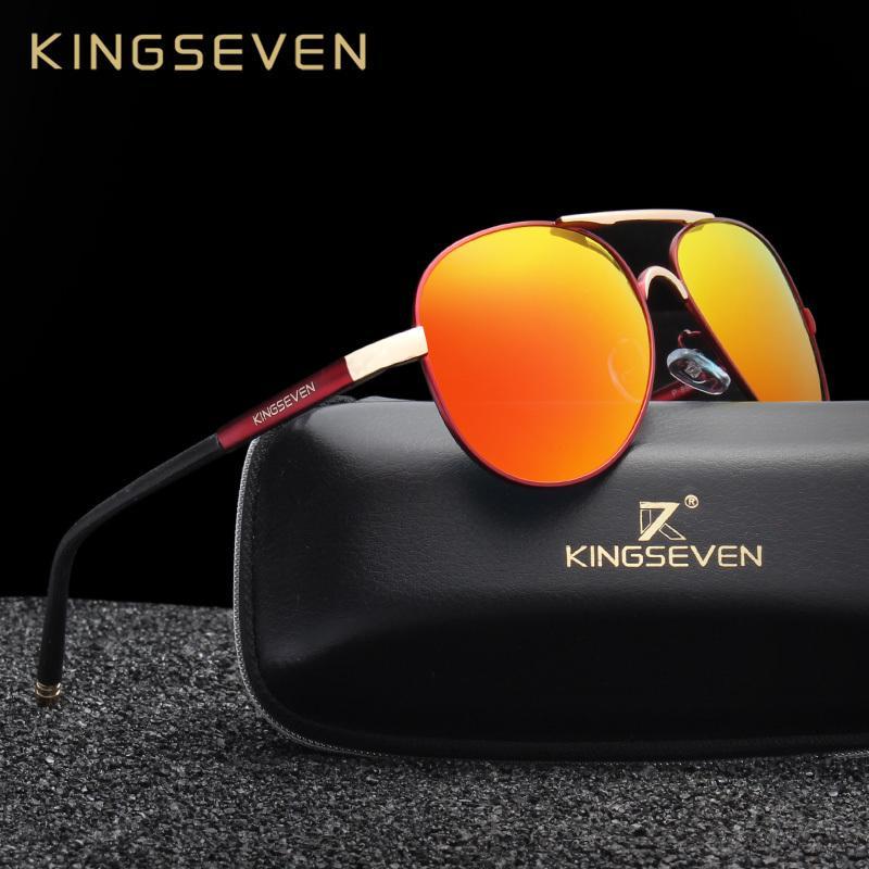 fa70118aee9 KINGSEVEN Brand New Unisex Aluminum Polarized Sunglasses Women Men Design  Travel Driving Sun Glasses Classic Male Eyewear Gafas D18101302 Vuarnet  Sunglasses ...