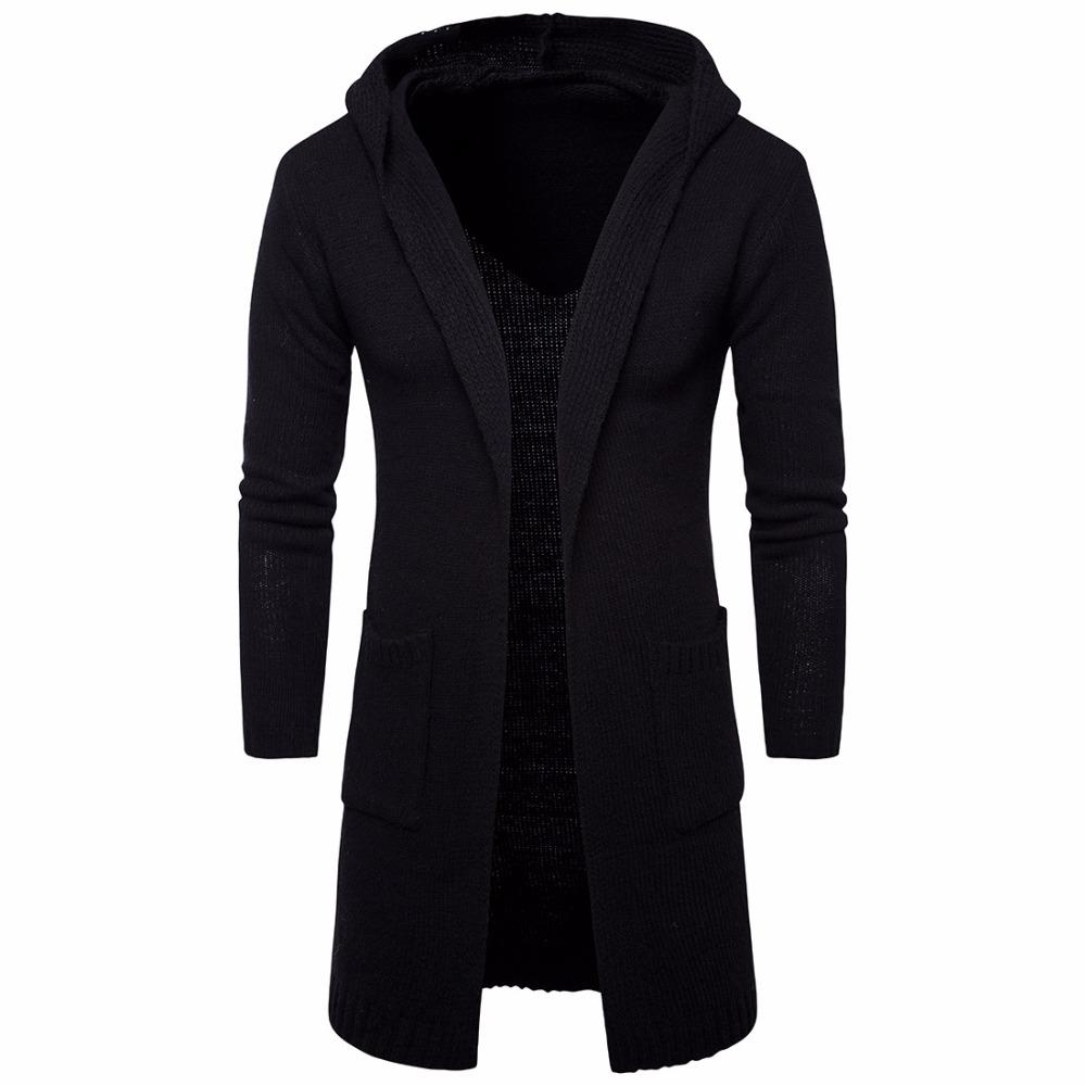 NEW Designed Men Sweater Long Cardigan for Man Hooded Sweater Outer Wear Coat Knit Sweaters So Cool Available