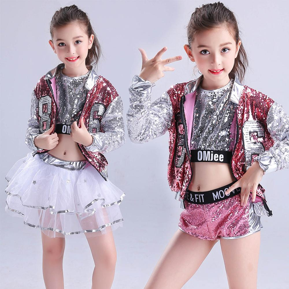 b4b36931b Compre Girls Sequined Ballroom Jazz Hip Hop Dancing Disfraces Kid Adult  Performance Modern Party Show Pants Dancing Wear Set Trajes A  51.27 Del  Morph1ne ...