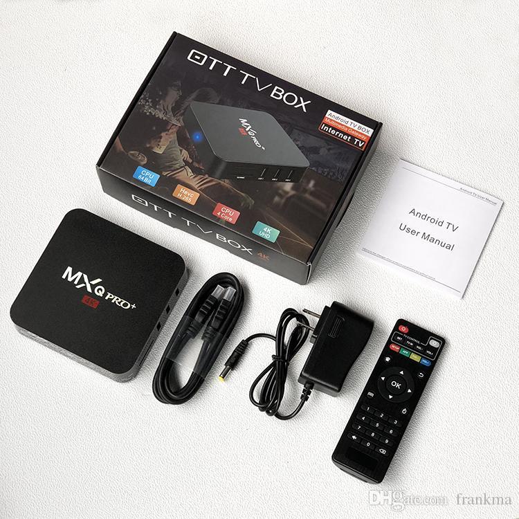 MXQ Pro Plus Android 8.1 TV Box RK3229 Quad Core 2GB 16GB Streaming Media Player 2.4G Wifi H.265 4K Ultra HD Smart Box