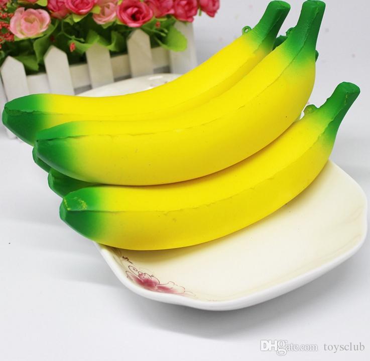10 cm 18 cm Jumbo Squishy Jouets Banane Lente Rising Téléphone Portable Charmes Pendentif Kawaii Mignon Stress Soulager Squeeze Pain Enfants Jouets Cadeau
