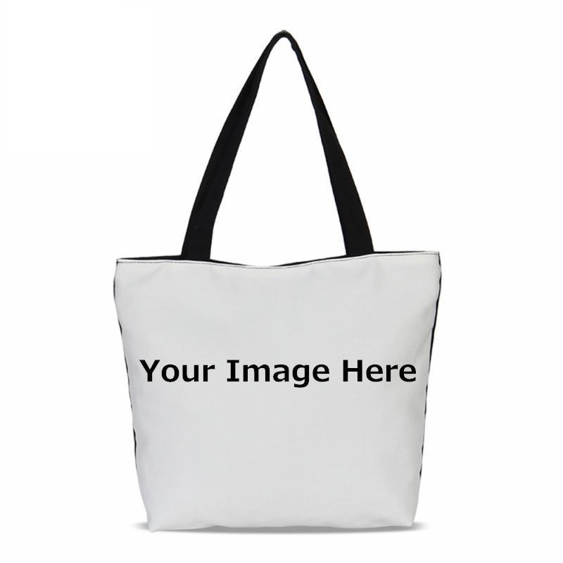 2ed56230e6 2018 VEEVANV Design Own Logo Canvas Women Handbags Fashion Customized  Printing Ladies Shoulder Tote Bags Portable Girls Bookbag Wholesale Bags  Over The ...